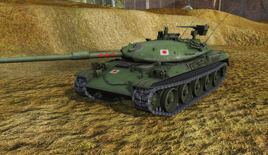 Отметки на стволах Японских танков