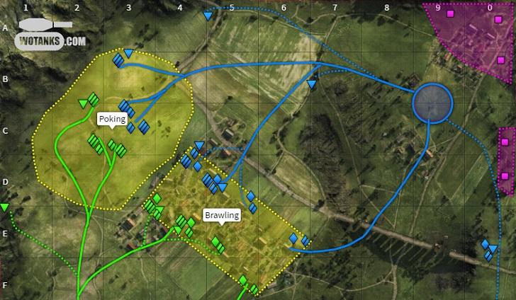 Тактика вот на картах World of Tanks
