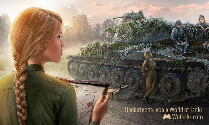 Уязвимые места танков и их пробитие
