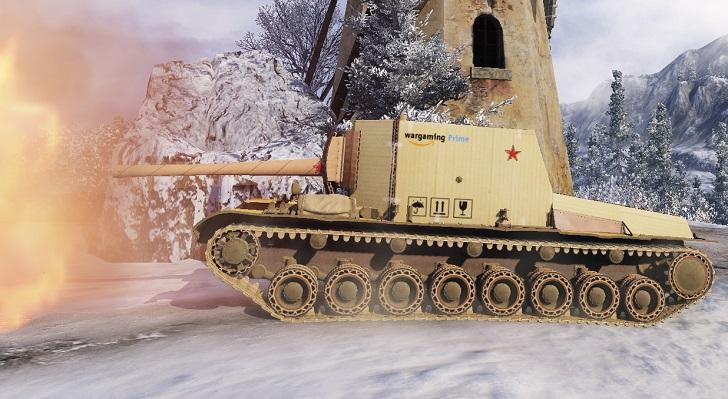 Картонный танк СУ-100Y в World of Tanks