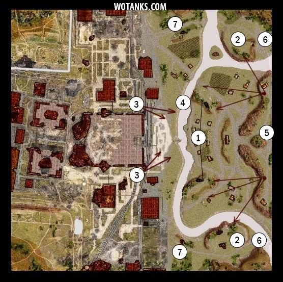 Первый вариант карты промзона для WOT