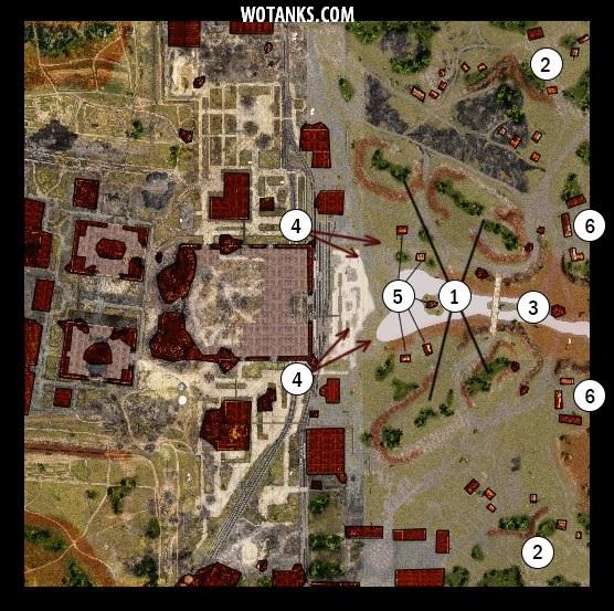 Второй вариант карты Промзона для World of Tanks