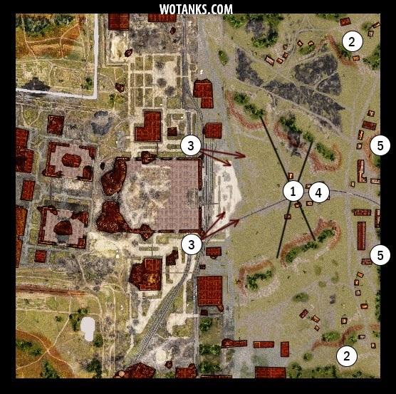 Третий вариант карты Промзона для Мира танков