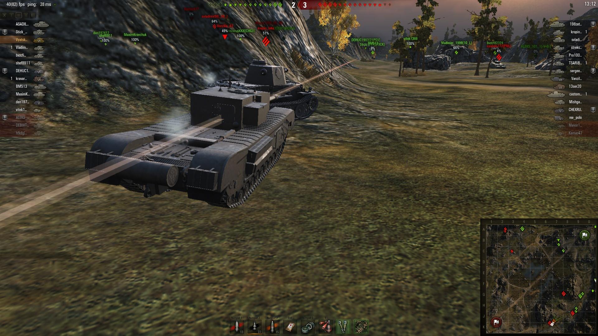 Непробитие танка