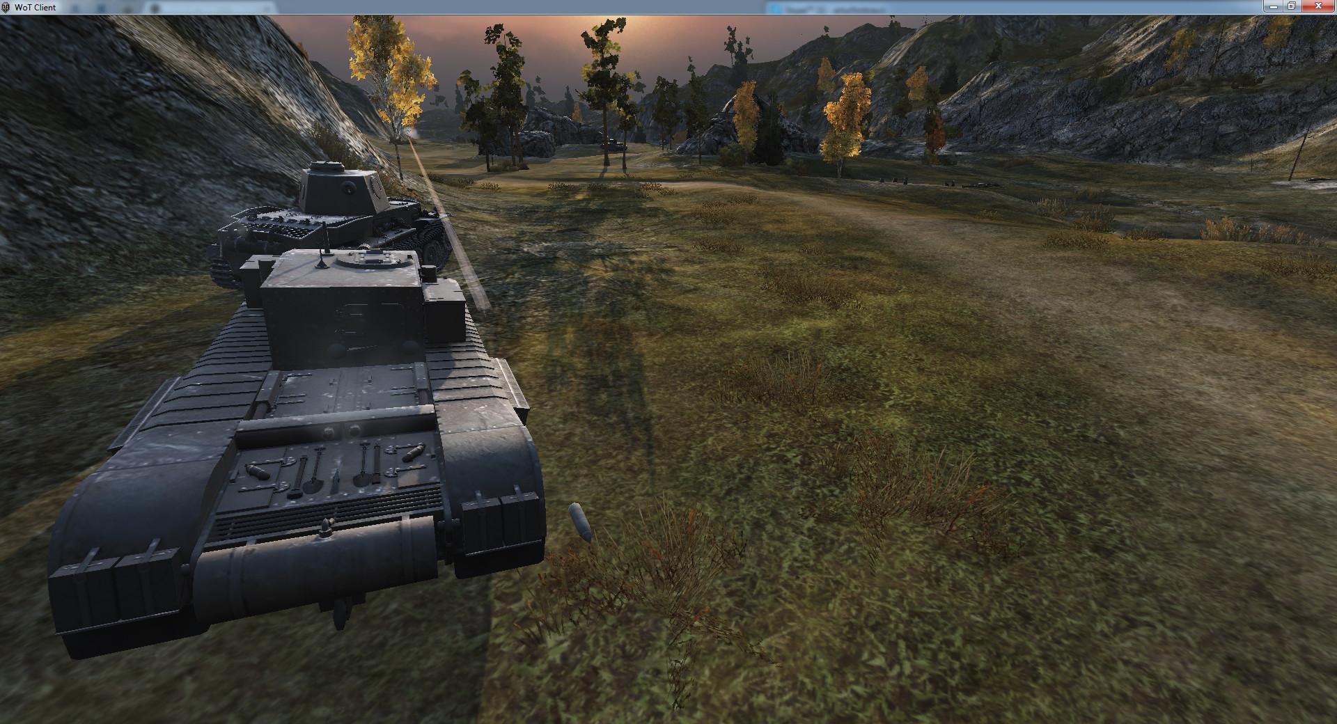Прошил танк