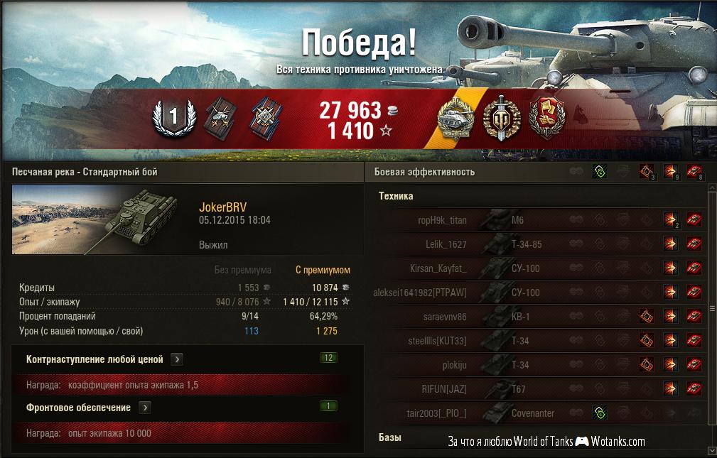 Люблю World of Tanks