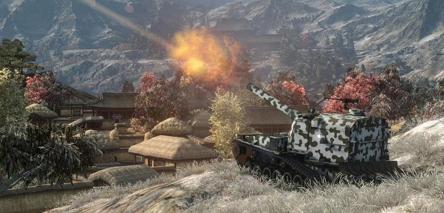 Куда стрелять по танку o-i