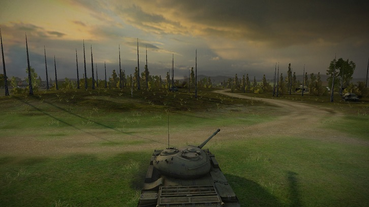Запрещенный мод на прозрачные деревья для World of Tanks